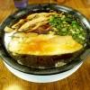 『らーめん工房 RISE / 焦がし黒醤油(ブラック)』歯切れの良い平打ち麺と濃口醤油と濃厚魚介スープの美味しいラーメン!!