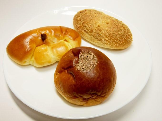 『エイト ノット ベーカリー / つぶあんぱん、クリームパン、カレーパン』天満橋