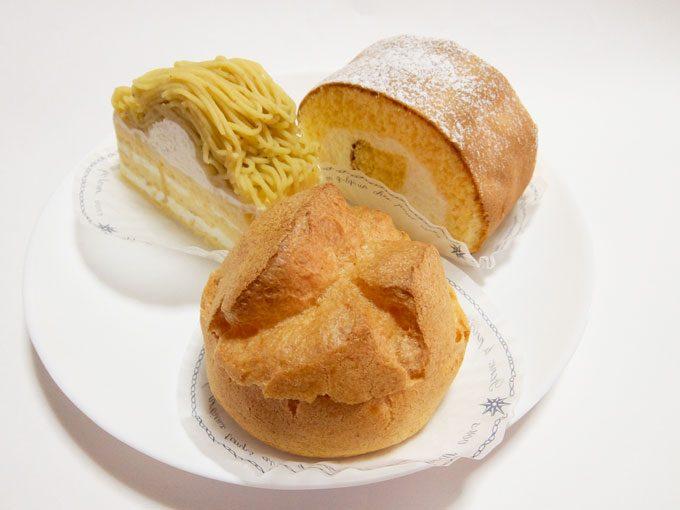 パティスリー ザキ「いちごのショートケーキ・和栗のショートケーキ・シュー アラ クレーム・zakiロール」