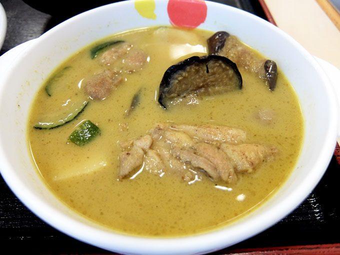 松屋「チキンと茄子のグリーンカレー」 〜いい感じに辛い!! 本格タイ風グリーンカレー〜