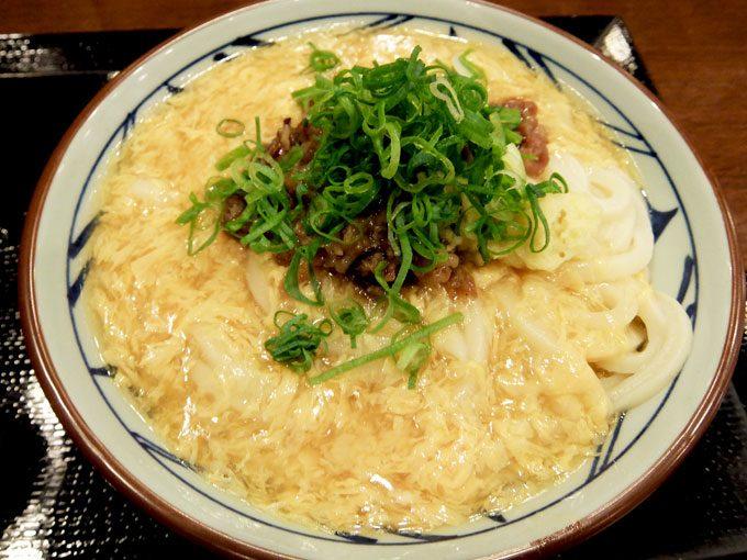 丸亀製麺「肉たまあんかけ」〜寒い日にはぴったりのあったかあんかけうどん〜