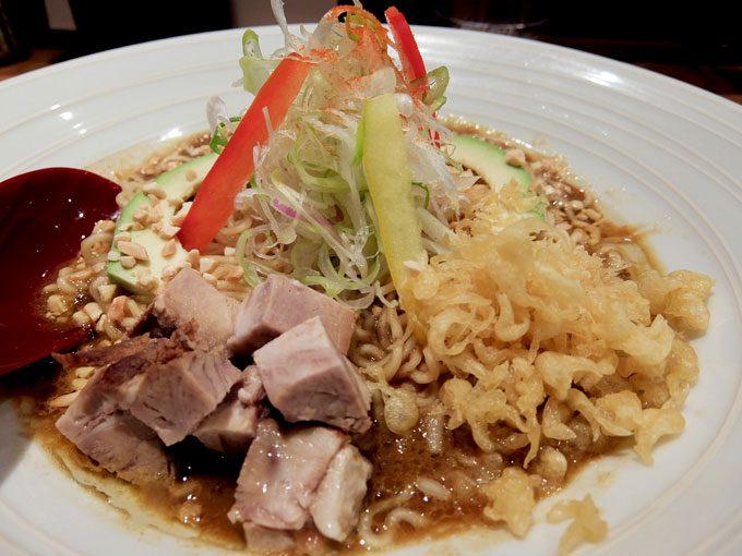 麺牛「咖喱まぜそば」〜和風だしの香りの良いあっさりまろやか咖喱まぜそば〜