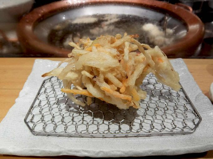 天ぷら まきの 梅田店 野菜のかき揚げ