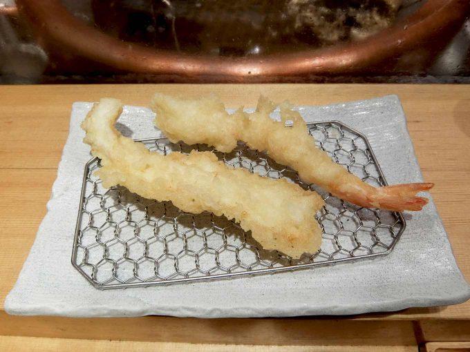 天ぷら まきの 梅田店 いか天 海老天