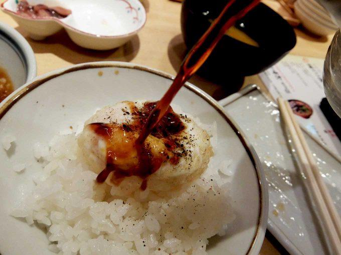 天ぷら まきの 梅田店 玉子天かけごはん