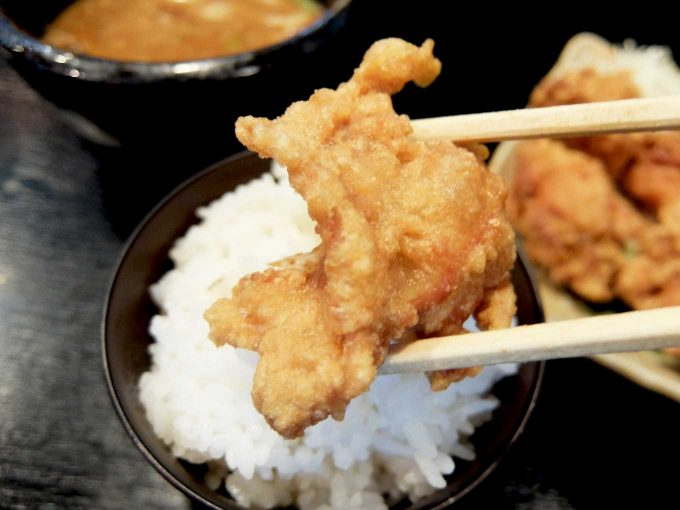 つけ麺専門 麺処 虎ノ王 梅田店 ごはん 唐揚げ