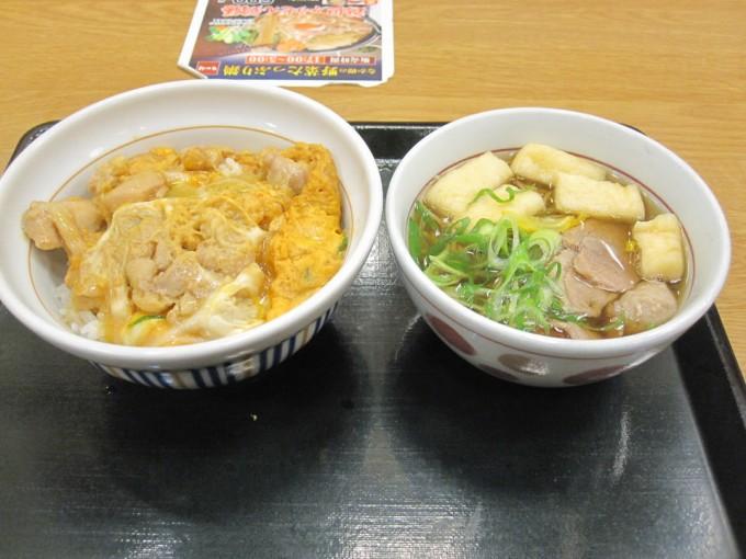 親子丼&鴨そば(小) / なか卯