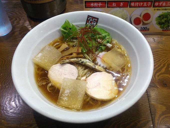 「冷やし煮干しらーめん」玉五郎 大阪駅前第4ビル店 in 梅田 大阪