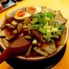 『麺屋7.5Hz 若江岩田店 / チャーシュー麺(並)+味付け玉子』もちもち極太麺とシンプルで濃厚な鶏ガラ醤油の高井田ラーメン