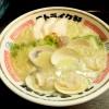 『ストライク軒 / シンカー(並)』もっちり麺にクリーミー蛤白湯、スープが麺にしっかり絡んで美味しいです!!