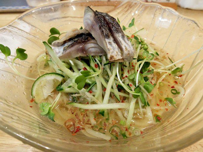 福島壱麺「炙り〆さば 冷やし塩そば」 〜大阪 福島 ひんやりと夏を感じる、満足感のある美味しい冷やし塩そば〜