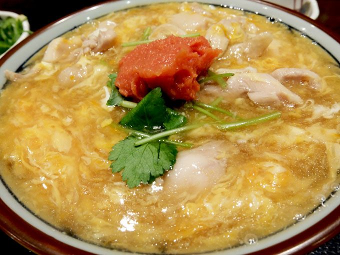 丸亀製麺「明太親子あんかけうどん」〜あったかあんかけに明太子の辛味、合います!!〜