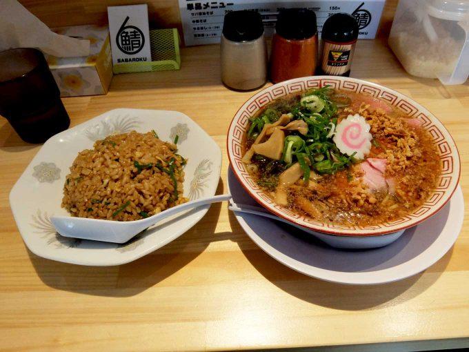 サバ6製麺所 中華そば+半やきめし