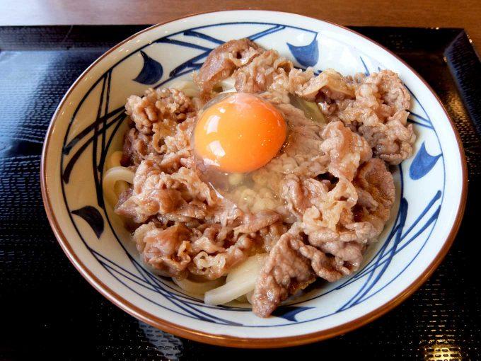 丸亀製麺「牛すき釜玉」〜去年に引き続き、今年もうまい!!〜