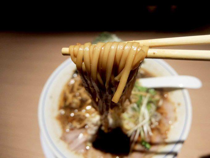 麺や マルショウ 北新地店 醤油中華そば 麺