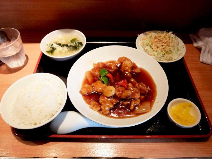 大阪 八尾「もりもと」酢豚ランチ