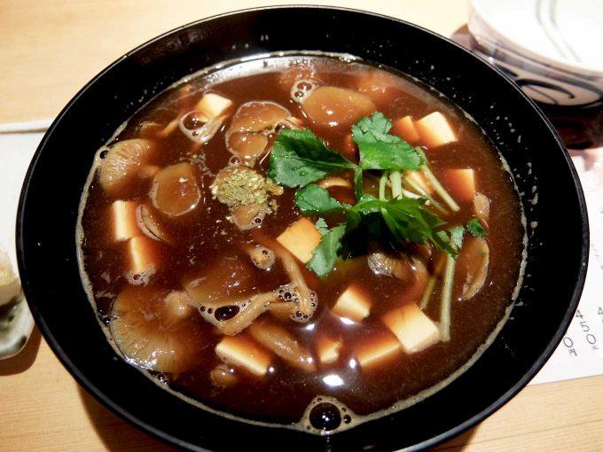 天ぷら まきの 梅田店 秋のご馳走定食 赤だしなめこ汁
