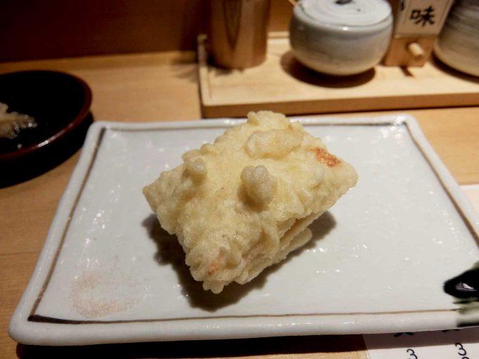 天ぷら まきの 梅田店 秋のご馳走定食 季節のゆばしんじょ 栗