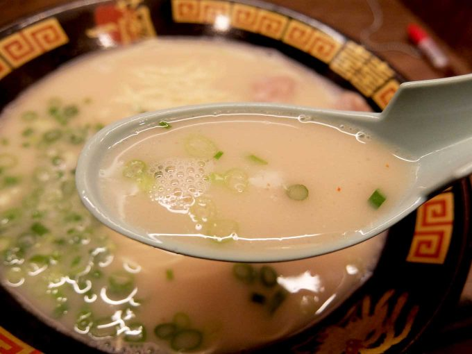 一蘭 梅田阪急東通店 ラーメン スープ