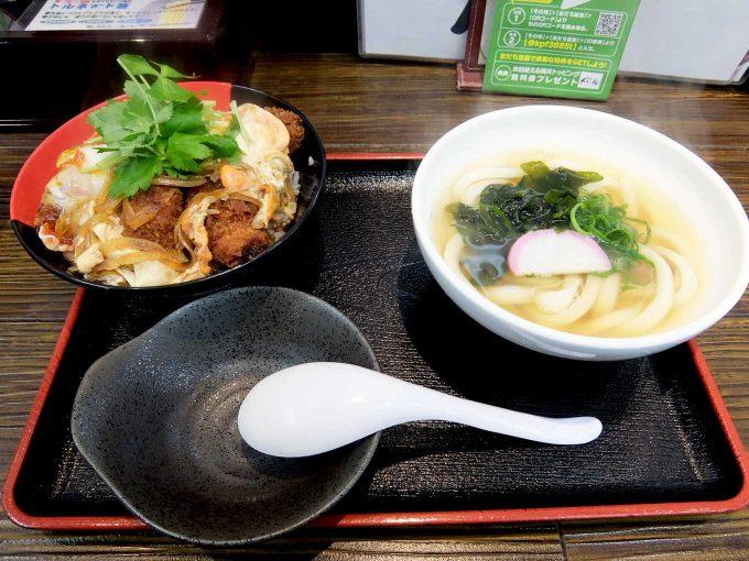 大阪 寺田町「極楽うどん Ah-麺」カキフライとじ丼セット
