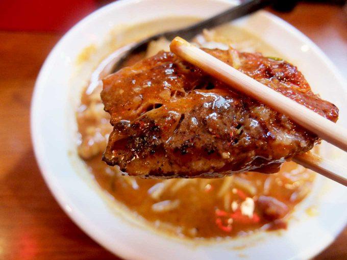 ひるドラ 鶴橋店 辛口炙り肉ソバ「味噌」チャーシュー