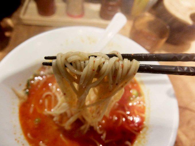 一風堂 梅田 からか麺 麺