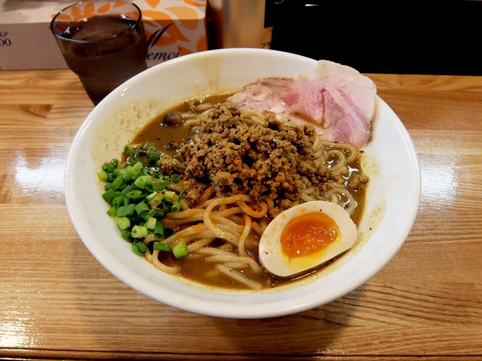 大阪 八尾「麺や 一想」スパイシーカレー和え麺