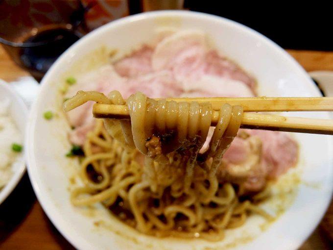 麺や 一想 スパイシーカレー和え麺 麺