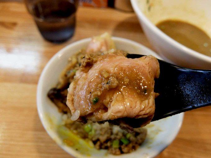 麺や 一想 スパイシーカレー和え麺 小ライス チャーシュー