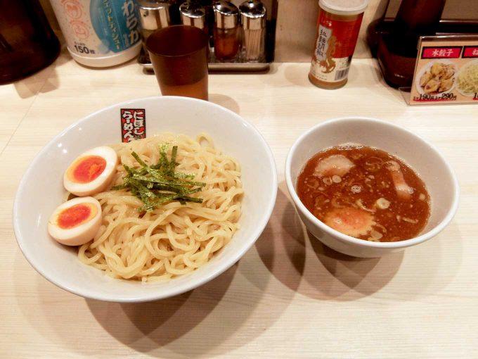 大阪 天満「煮干しらーめん玉五郎 天満本店」味玉煮干しつけ麺