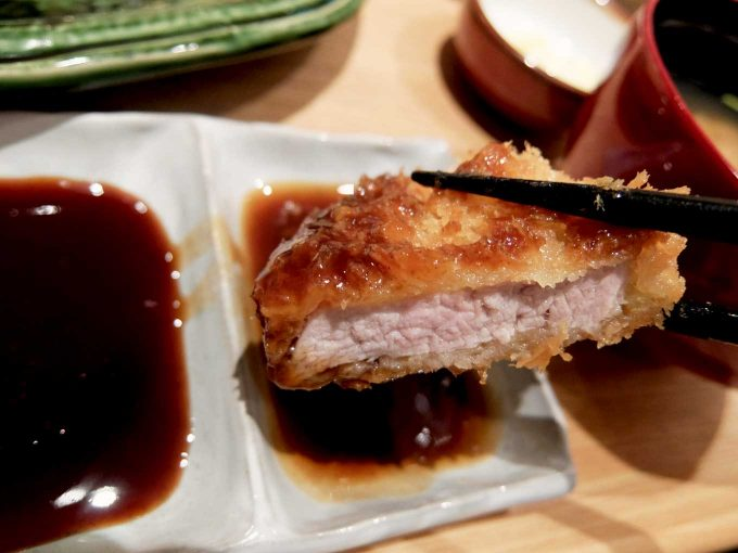 とんかつ かつ里 牡蠣フライとヒレかつ定食 ヒレかつ 1
