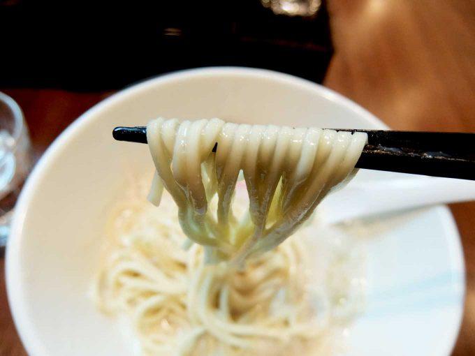 中華蕎麦 葛 あわい蕎麦 麺