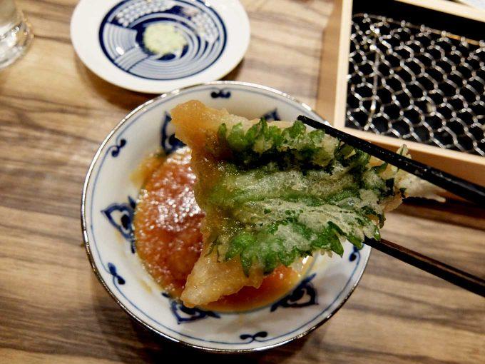 大阪 梅田 ルクア バルチカ「立呑み・天ぷら 喜久や」鱚(きす)
