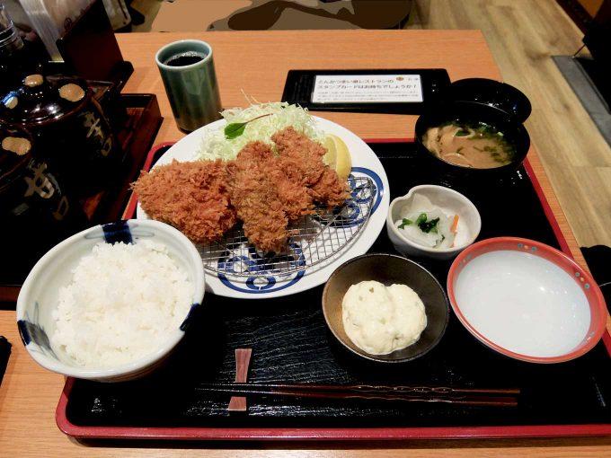 大阪 梅田 「とんかつまい泉 ルクア イーレ店」カキ・ヒレひとくちかつ膳
