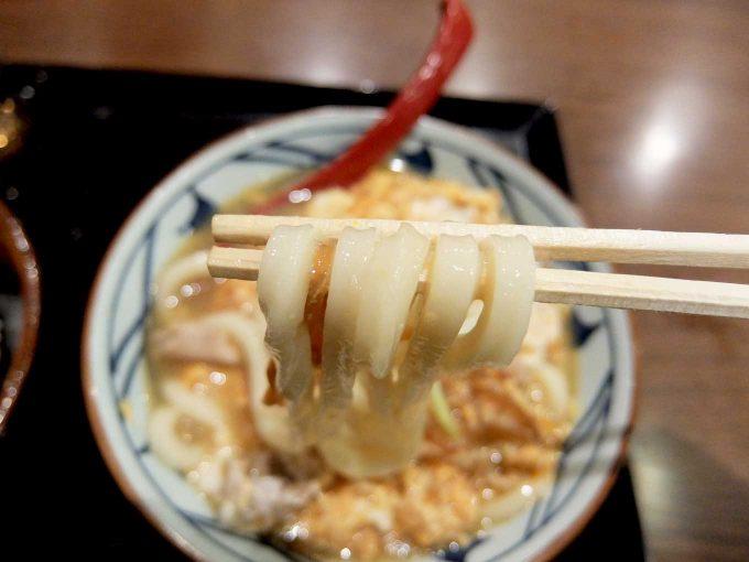 丸亀製麺 親子とじうどん 醤油味 うどん