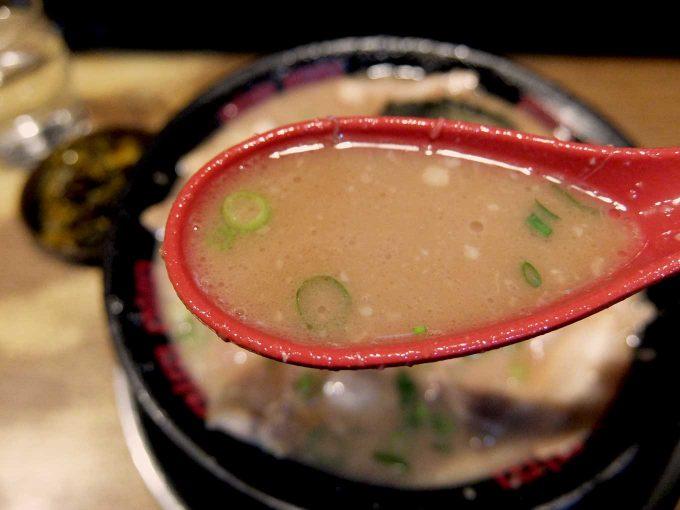 大阪 今宮戎「無鉄砲 大阪店」Wスープチャーシューメン スープ
