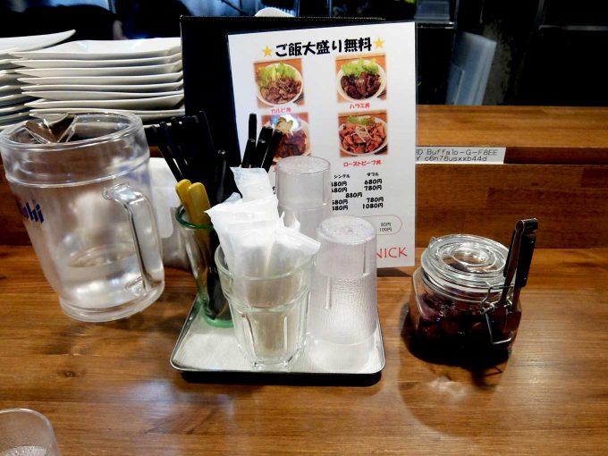 大阪 梅田「オー ニック」カウンターテーブル