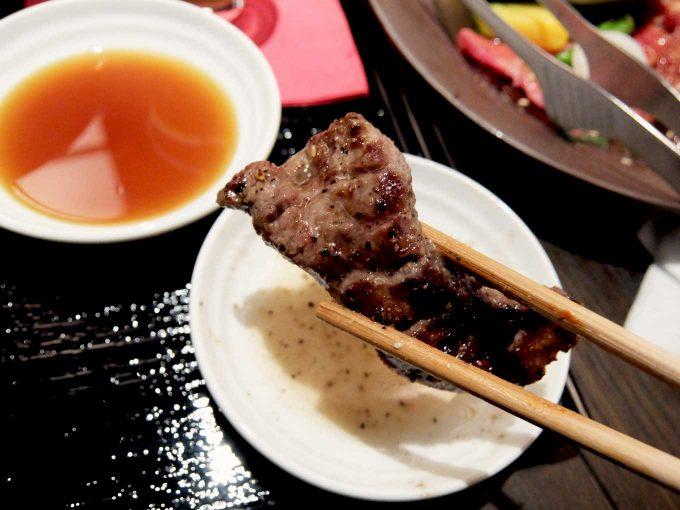 大阪 梅田 ルクア バルチカ「焼肉トラジ ルクア大阪店」トラジ御膳 タン塩