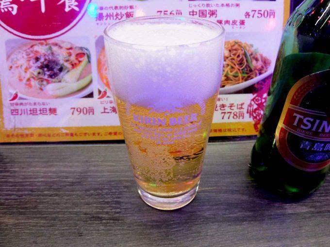 大阪 梅田 ルクア バルチカ「幸福飯店 ルクア店」青島ビール
