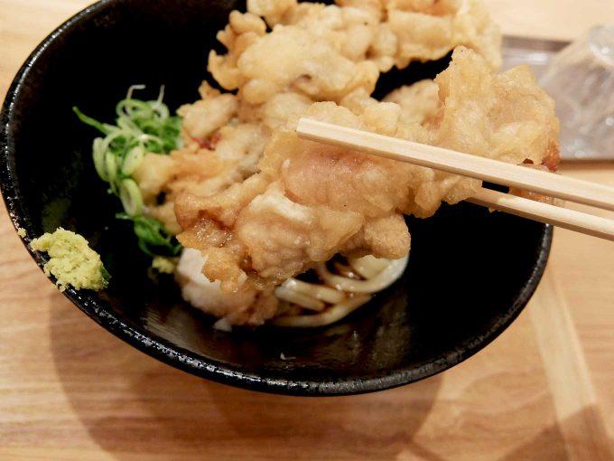 大阪 梅田 ルクア バルチカ「本町製麺所 天 ルクア大阪店」鶏天ぶっかけ 鶏天