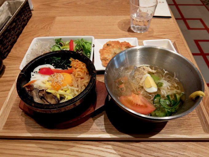 韓美膳 グランフロント大阪店「ハーフ&ハーフ (石焼ビビンバ&冷麺)」