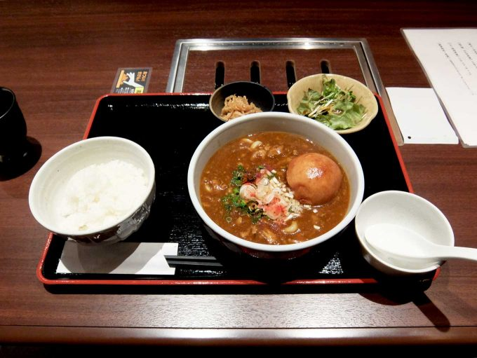 厨肉中贅 薫 ~KAORU~「牛すじたっぷり カレーうどん定食」in 大阪 北新地 大江橋