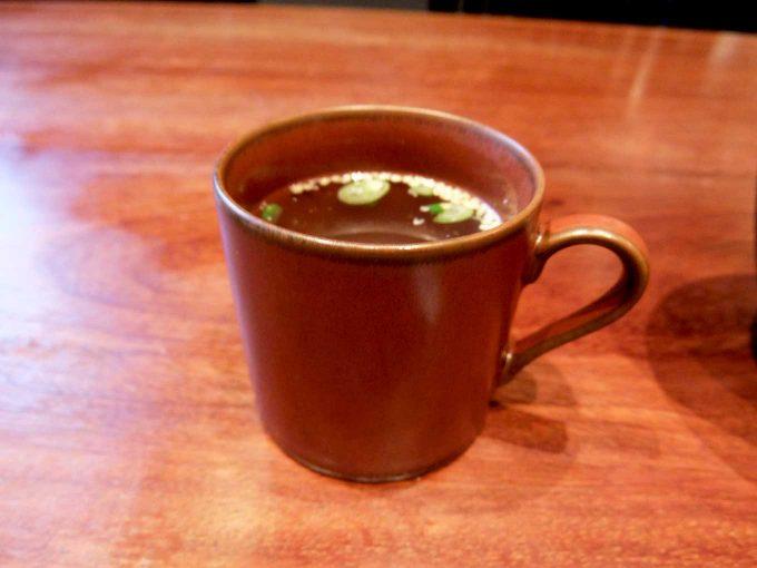 梅田肉料理 きゅうろく「黒毛和牛ハンバーグステーキランチ」 in 大阪 梅田 スープ