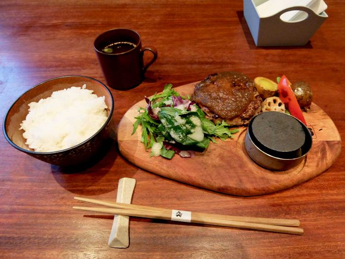 梅田肉料理 きゅうろく「黒毛和牛ハンバーグランチ」in 大阪 梅田