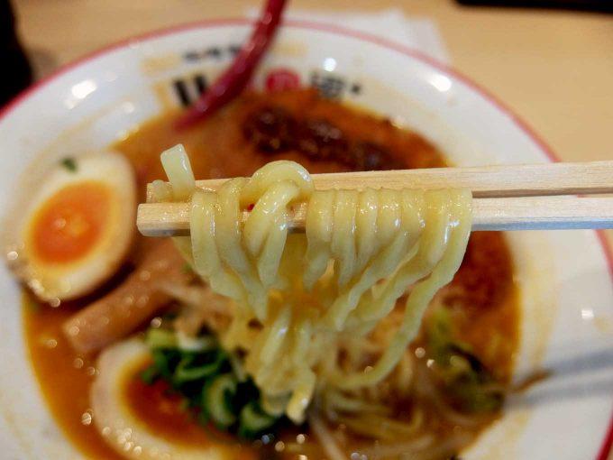麺乃國+ 西天満店 北海道百年味噌カツラーメン 麺 in 大阪 南森町