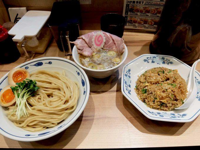 サバ6製麺所 お初天神店「サバ濃厚鶏つけ麺、半ガーリックやきめし」in 大阪 梅田