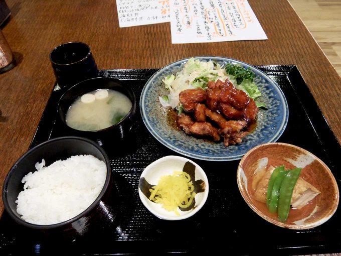 日和山「サービスランチ (鶏のからあげ甘辛ソース)」in 大阪 中津