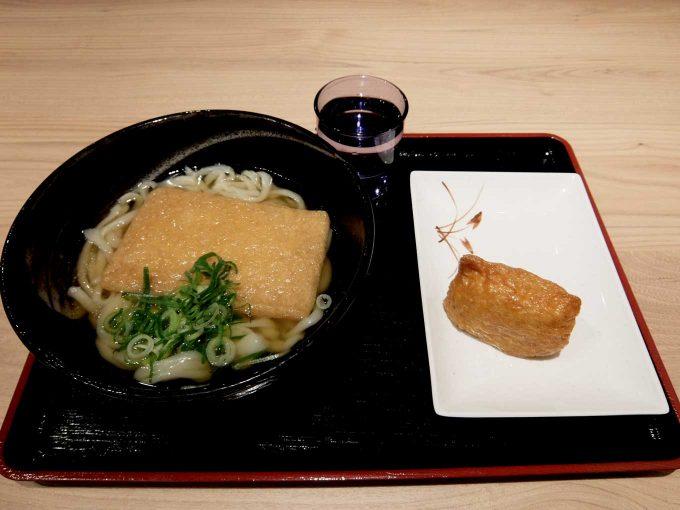 手打ちうどん がんちゃん「きつねうどん、いなり」in 大阪 東梅田