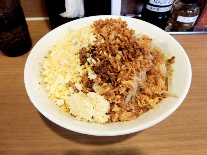 麺屋ガテンZ「カレーMAZEそば」in 大阪 難波 日本橋
