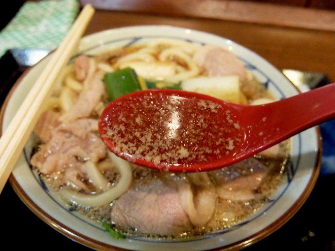 丸亀製麺 鴨ねぎうどん お汁